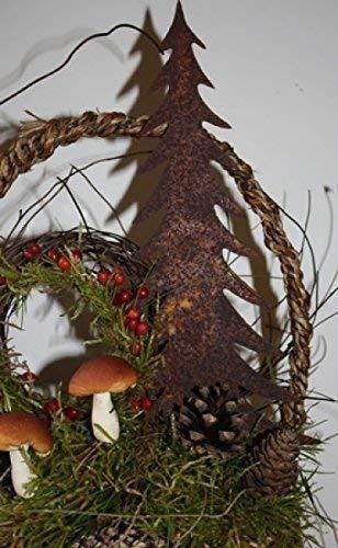 Rostikal | Edelrost Weihnachtsdeko | Tannenbaum zum Stecken | 17 cm hoch