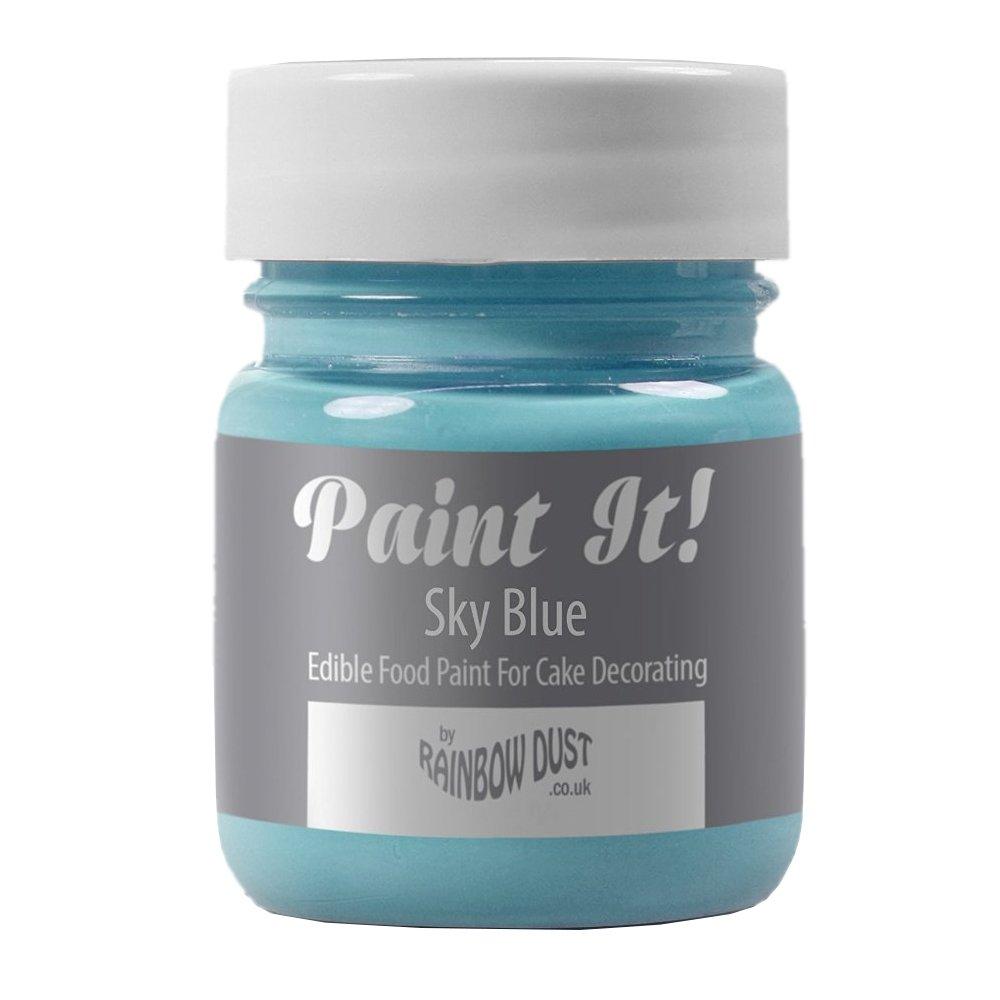 Rainbow Dust Paint It Cake Decoration 100% Edible Food Paint Colouring SKY BLUE