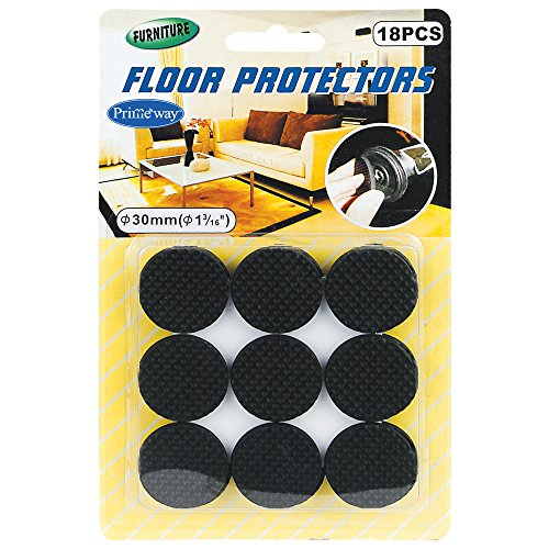 Primeway Furniture Floor Protector, Dia 30mm, 18 Pcs Set  available at amazon for Rs.269