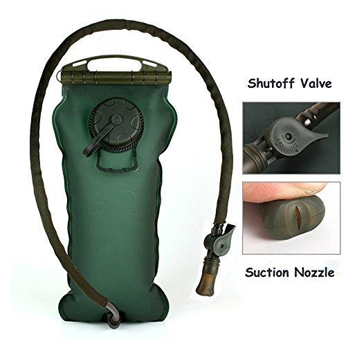Kottle 100OZ/3 Liter im freien Trinkblase, zusammenklappbare militärische Wasser Reservoir Pack für Wandern, Camping, Klettern, einfach sauber große (Oz-blase 100)