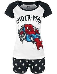 Spider-man Shoots Web Pijama blanco-negro