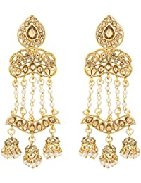The Luxor Stylish Party Wear Pearls Jewellery Jhumkhi Earring For Women And Girls -ER-1829
