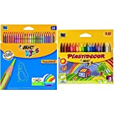 Bic - Pack 24 lápices de colores Tropicolors + 18 ceras de colores Plastidecor