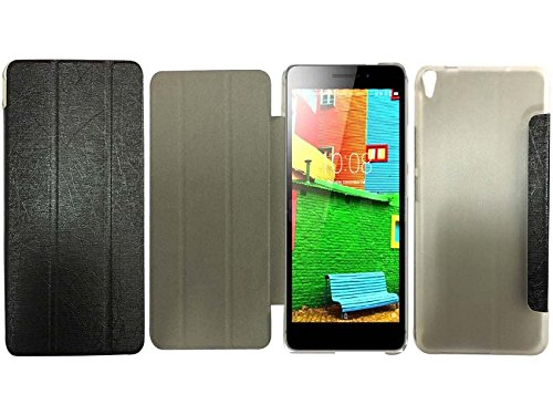 Colorcase Tablet Flip Cover Case for Lenovo Phab 4G (PB1-750M) - Black