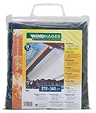 Windhager Sonnensegel für Seilspanntechnik Sonnenschutz Segel ideal für Pergola oder Wintergarten, 270 x 140 cm, DUNKEL-GRÜN, 10814