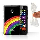 Stuff4® Gel TPU Hülle/Case für Microsoft Lumia 532 / Regenbogen-Streifen Muster/LGBT Gay Pride Kunst Kollektion