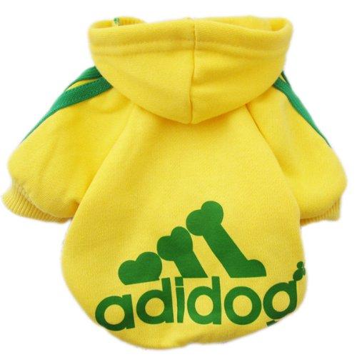 Zehui süsse Haustier Hund Katze Pullover Hündchen T-Shirt Warme Pullover Mantel Kleidung Apparel Gelb XS