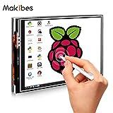 Makibes 3.5 Pulgadas Pantalla Táctil 480 * 320 LCD (A) TFT Pantalla Táctil Monitor para Placa de Base Raspberry Pi RPi/Raspberry Pi 2/3 Model B Módulo de Interfaz SPI