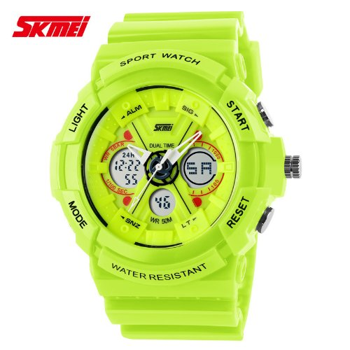 Jungen und Mädchen fashion dual display electronic Uhren, Natur, outdoor, sport, wasserdicht, couple Watches