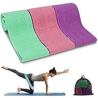 Cocoda Bandas Elasticas Musculacion, 3 Piezas Cintas Elasticas Musculacion con 3 Niveles para Piernas/Glúteos/Muslo, Cadera Ancha Antideslizante Bandas Resistencia para Yoga,Pilates,Crossfit,Hogar,Gym