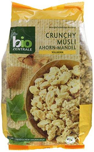 biozentrale Crunchy Müsli Ahorn-Mandel, 2er Pack (2x375g) (Erdbeer-joghurt-rosinen)