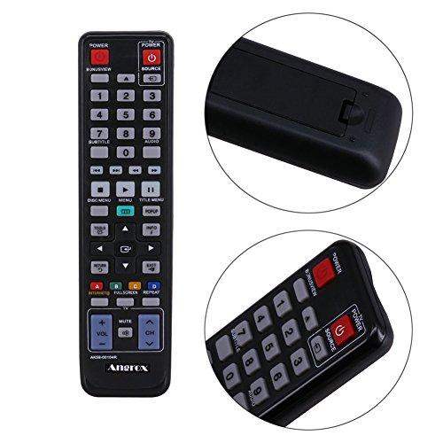 angrox AK59–00104R AK5900104R Universal DVD-Player FERNBEDIENUNG Ersatz für Samsung Blu Ray Fernbedienung...