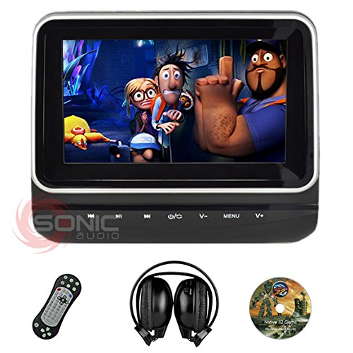 sonic-audio-r-hr-7c-universal-7-tablet-style-clip-on-headrest-dvd-player-screen-with-usb-sd-and-wire