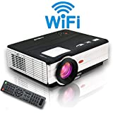 Wireless LCD LED Video Projektor 3500 Lumen Heimkino Beamer Kino Intelligenter Projektor Player HDMI VGA USB