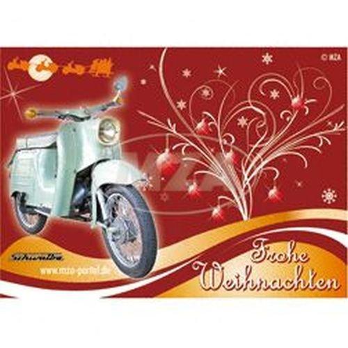 Postkarte - MOTIV: Schwalbe KR51 - Frohe Weihnachten