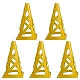 UOPJKL Set di 5 Coni calcio coni marcatori forati per calcio e altri sport Skill pratica - giallo
