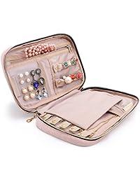 BAGSMART Travel Jewellery Organiser Case Portable Jewelry Bag for Rings, Necklaces, Bracelets, Earrings