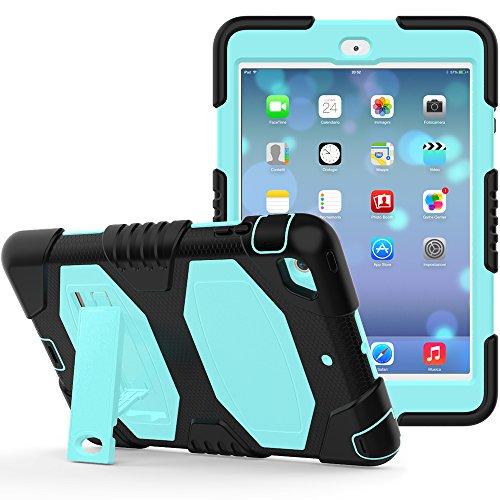 iPad Mini Case, iPad Mini 2Case, iPad Mini 3, beimu 3in1Hybrid, Defender Robuste Hülle Silikon Hard Case Full Body Schutzhülle mit Ständer für Apple iPad Mini 1/2/3 Lit Blue (Ipad Case 2 Pokemon Mini)