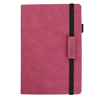 ANGGO Notizbuch mit Ledereinband, Business-Notebook, lässiger Tagesnotizblock, klassisches Reisetagebuch, Skizzenbuch Rose Red / A5