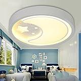 Deckenleuchten - Cartoon LED Kinderzimmer Runde Acryl Decke lampen Schlafzimmer Mädchen Wohnzimmer Deckenleuchten (Style Optional) - Energieeffizienz: A+++ (Farbe: B-52cm-32W)