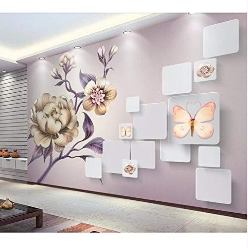 Pmhhc Schöne Handgemalte Tapete WandbildWohnzimmer Schlafzimmer Sofa Fernseher Hintergrund Wohnkultur Papel Wandbild-400x280Cm