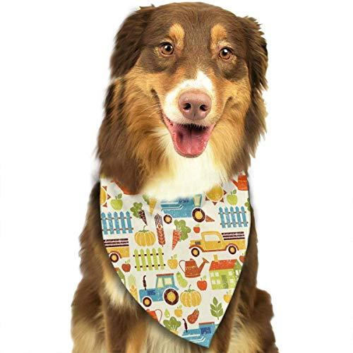 Philadelphia Kostüm - Wfispiy Biologische Landwirtschafts-Schmutz-Muster-weiche Baumwollklassische Tiere Bandana-Haustier-Hundekatze-Dreieck-Lätzchen