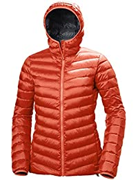 Helly Hansen W Verglas Hooded Down Insulato Chaqueta con capucha, Mujer, Rojo (grenadine
