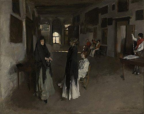 john-singer-sargent-a-venetian-interior-large-semi-gloss-black-frame