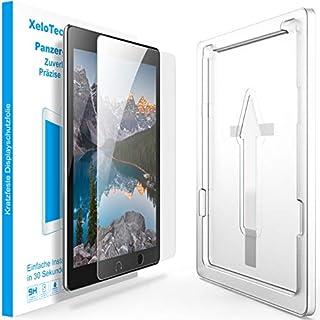 XeloTech Panzerglas mit Schablone für iPad Air 3 10.5 Zoll (2019) & iPad Pro 10.5