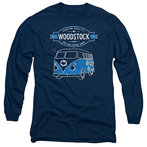 Woodstock - Herren Van Long Sleeve T-Shirt Navy