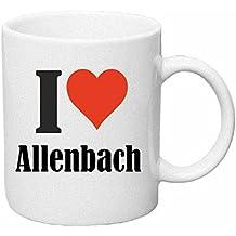 """Tasse de Café .. Tasse à Thé … Coffee Mug """" """"I Love Allenbach"""" ... Hauteur 9 cm de Diamètre 8 cm Volume 330 ml ... Le cadeau idéal pour leur Partenaire - Collègue - Amis"""