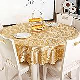 BCX XCF Tischdecke, Tuch, Wasserdicht Luxus Couchtisch rechteckigen Runden Quadratischen Tuch,A,Durchmesser: 14