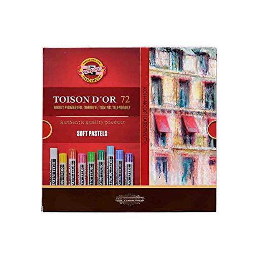 Koh-I-Noor TOISON D\'OR 8517 - Pastellkreide runde Künstler-Softpastelle - 72 Stück