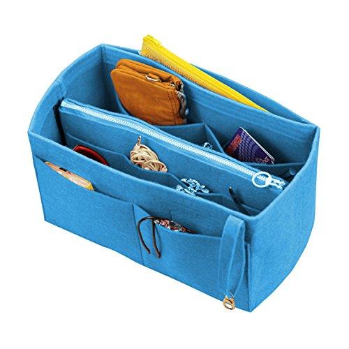 [Passt verschiedene Taschen, L.V. Her.mes Long.champ Go.yard] Filz Tote Organizer (w / abnehmbare Reißverschluss-Tasche), Geldbörse einfügen, Kosmetik-Make-up-Windel-Handtasche, Taschen