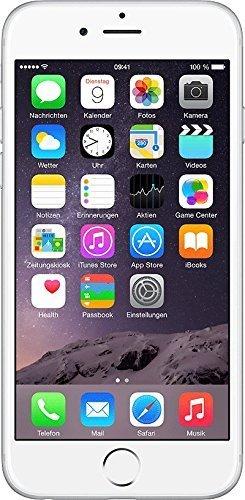 Apple iPhone 6 Smartphone (4,7 Zoll (11,9 cm) Touch-Display, 64 GB Speicher, iOS 8) silber (Generalüberholt)