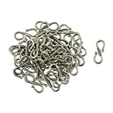 #3: NF&E 50Pcs Tibetan Silver S Hook Clasp Necklace Clasp Jewelry Findings 23 x 9 mm