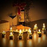 ZeWoo 12 Pcs Zart Kaktus-Kerzen, Dekorativ Handarbeit Zart Kaktus Teelicht Rauchlos Niedlich Grün Pflanze zum Valentinstag, Geburtstagsfeier oder Hochzeit Vergleich