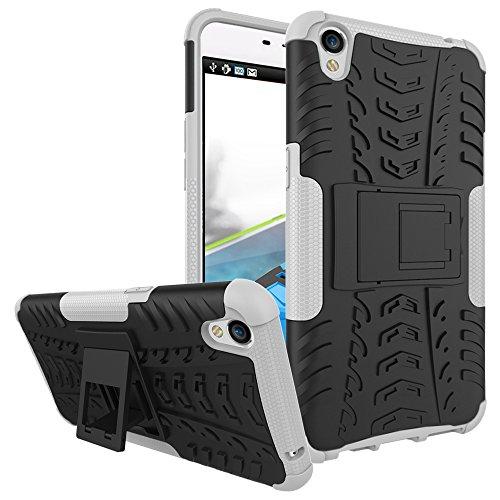 COVO® Festigkeit und Flexibilität Zurück Cover Style Smartphone Hülle mit Kickstand für OPPO F1 Plus (Weiß)