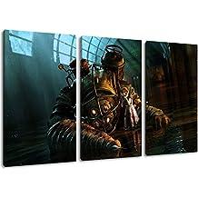Dark Bioshock 3 Pièces sur toile, taille globale: 120x80 cm finis encadrées images art d'impression que murale - moins cher que la peinture à l'huile ou de la peinture - non pas une affiche ou une bannière,