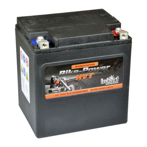Intakt Bike Bull Motorradbatterie HVT 02 SLA 12 V 30 AH 550 A (YIX30L-BS) (Motorrad Harley Davidson Teile)