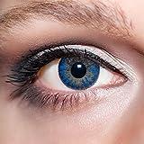 KwikSibs farbige Kontaktlinsen, dunkelblau, 3-farbig, weich, inklusive Behälter, BC 8.6 mm / DIA 14.0 / +1,00 Dioptrien, 1er Pack (1 x 2 Stück)