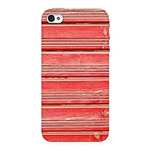 Impressive Red Woodlock Print Back Case Cover for iPhone 4 4s