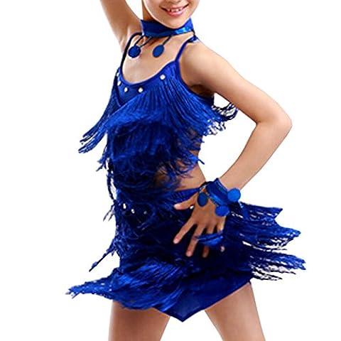 Danse Costumes Pour Les Filles Dans Récitals - Blancho Robe de danse latine de fête
