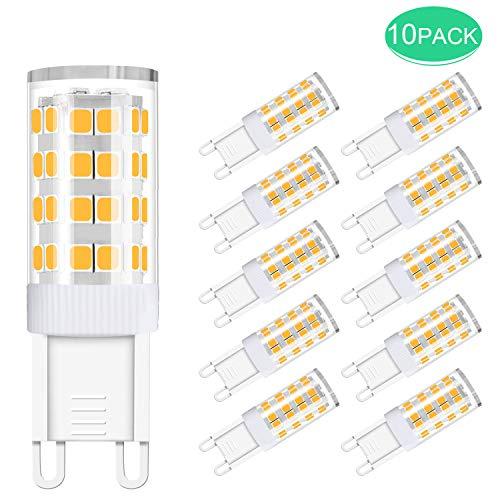 10er Pack G9 LED-Lampen, SS SHOVAN 5W Kein Flackern Energiesparlampen, Ersatz 50W Halogenlampen, AC / 220V-240V, 420LM, Warmweiß 3000K, 360 ° Abstrahlwinkel [Energieeffizienzklasse A +]