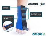Handgelenkstütze für Karpaltunnelsyndrom verstellbar blau Handgelenk Schiene mit Neopren für RSI Arthritis Sehnenentzündung Gelenkschmerzen und Fraktur für links Hand von Körper-Sync–NHS Verwenden Und medizinisch zugelassen