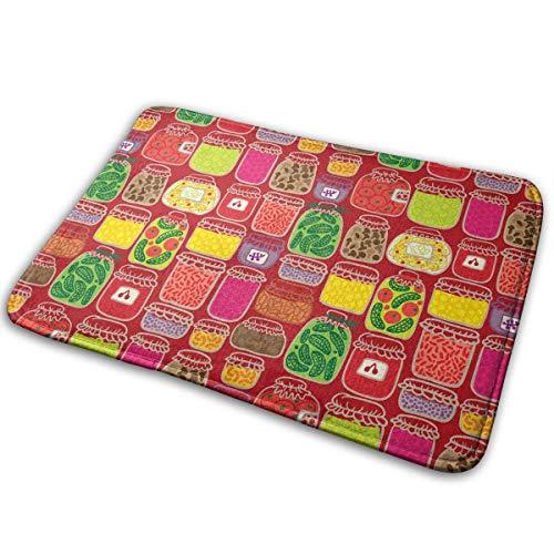 QuGujun royal Velvet Towels Cute Red Strawberry Bath Mat Non Slip Absorbent Super Cozy Velvet Bathroom Rug Carpet Bath Rugs -