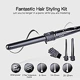 Ckeyin 3-in-1 Multifunction Interchangeable Hair Curlers Kit (Black, HS54)