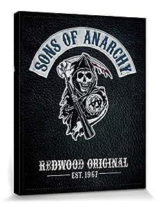 Sons Of Anarchy Poster Reproduction Sur Toile, Tendue Sur Châssis - Motorcycle Club Redwood Original, Est. 1967 (50 x 40 cm)