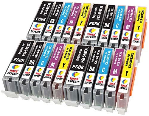 PGI-580XXL CLI-581XXL TONER EXPERTE 20 XL Cartucce d'inchiostro compatibili con Canon PIXMA TS8150 TS6150 TR8550 TS8250 TR7550 TS6250 TS9150 TS9550 TS705 TS6151 TS8151 TS8152 TS9155 | Alta Capacità