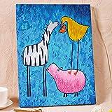 Xyywqybg Cadeau De Peinture À L'Huile De Bricolage Numérique Aide Mutuelle Pour Enfants Adultes Peindre Par Nombre Kits Home Decor-50X65Cm, Frameless...